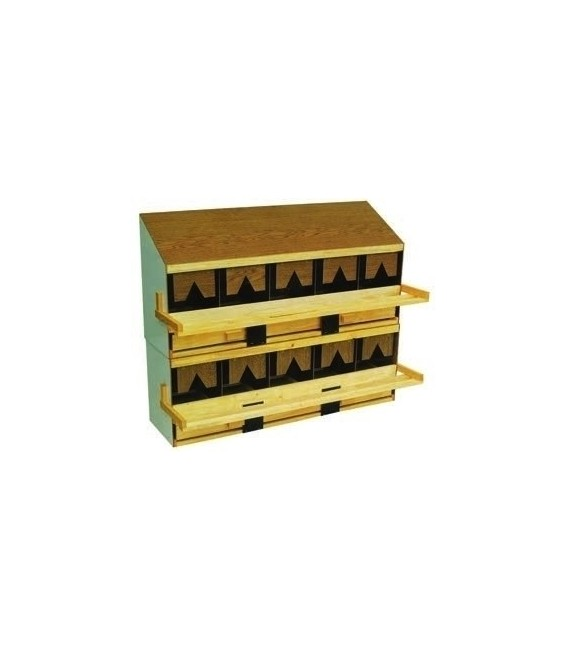 Nid Pondoir supperposables en bois - Toit Plat - Partie Basse