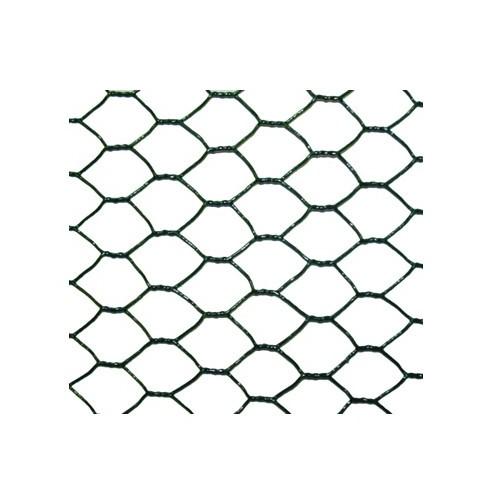 Rouleaux grillage hexagonal plastifié 10 ml- Hauteur 0.5 m - maille 25 mm - diamètre fil 1.00 mm