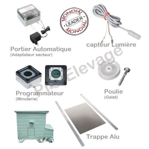 Kit Complet ouverture et fermeture trappe automatique VSB ST 220V/1 ZS/ 1 AS/ 1 s HS / 22*33 cm/1SA