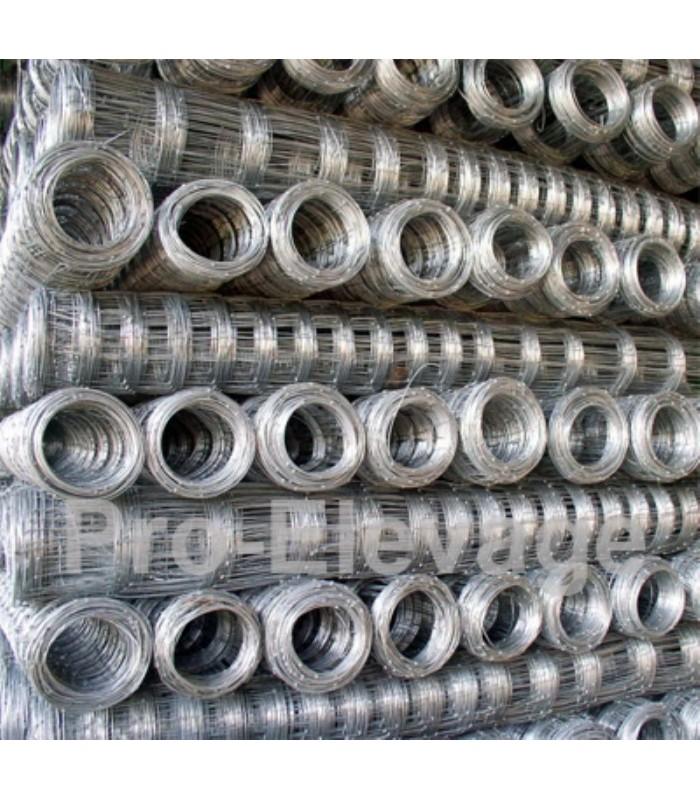 Pack Rouleaux 1.60m de haut 50 ml de Grillage Forestier GALVA STANDARD fil 2.2 / 1.8 mm 23 fils