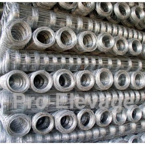 Pack Rouleaux 2.00m de haut 50 ml de Grillage Forestier GALVA STANDARD fil 2.2 / 1.8 mm 17 fils
