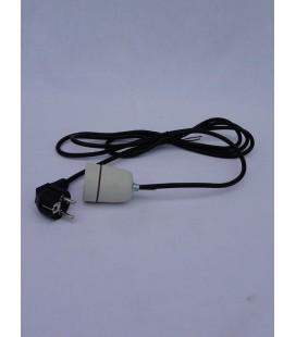 Douille porcelaine avec câble d'alimentation