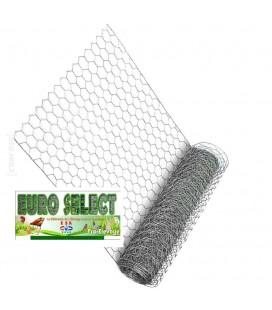 Palette Rouleaux de grillage hexagonal 50 ml : Hauteur 1 m - maille 25mm - diamètre fil de 0.80mm