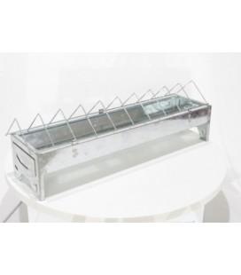 Mangeoire volaille linéaire 30 cm métal