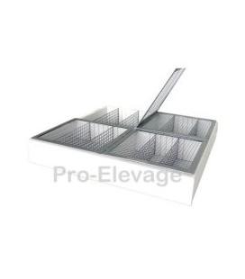 Panier HK- T2p Plastifie Ecloison / Selection avec Couvercle 38x44 cm