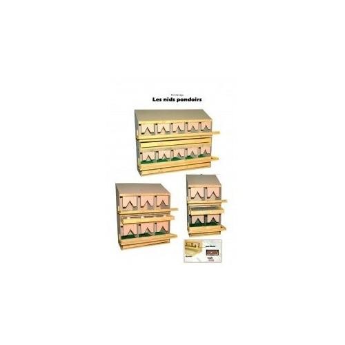 Nid Pondoir supperposables en bois - Toit Plat - Partie Basse