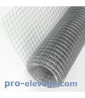 Grillage 6,3x6,3/fil 0,55/1000/25m volieres galvaniser soudé