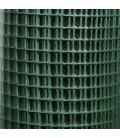 Grillage 12,7x12,7/fil 0,9/500/5m volieres galvaniser soudé + PVC hobby green