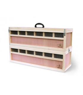 Caisse de transport de volaille de Race pour transport ou expositions - 48cm de haut – 3 à 4 compartiments