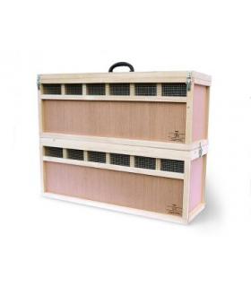 Caisse de transport Grand Pigeons / ou /et Poules nain pour transport et expositions - hauteur 33cm - 6-12 compartiments
