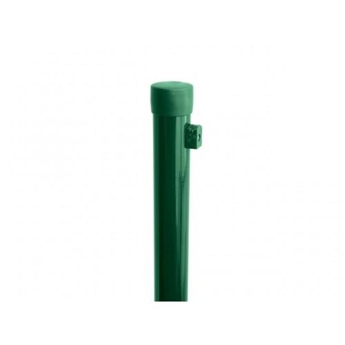 Pack Poteaux Galva + PVC Vert Hauteur 1750mm, diam 38 mm, épaisseur 1,25 mm + fixation fil tension