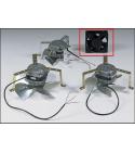 Ventilateur axial, (carré noir) 120 mm