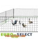 Filet de protection clôture électrifiable pour volailles,  de maille progressive