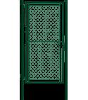 Portail simple Torsion galvanisé + PVC  TENNIS