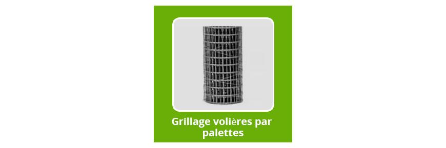 Grillage Volière par palette