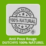 "Anti Poux Rouge ""DUTCHYS"" 100% NATUREL"