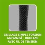 Grillage SIMPLE TORSION Galvanisé + PVC - rouleau AVEC FIL DE TENSION