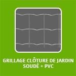 GRILLAGE CLÔTURE DE JARDIN SOUDÉ + PVC