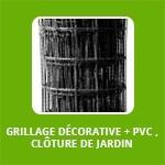GRILLAGE DÉCORATIVE + PVC , CLÔTURE DE JARDIN