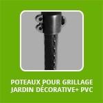 POTEAUX POUR GRILLAGE JARDIN DÉCORATIVE+ PVC