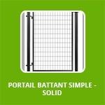 PORTAIL BATTANT SIMPLE - SOLID