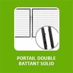 PORTAIL DOUBLE BATTANT  SOLID