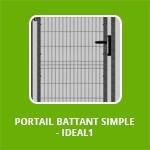 PORTAIL BATTANT SIMPLE - IDEAL1