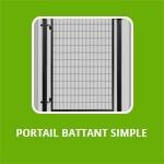 PORTAIL BATTANT SIMPLE