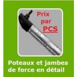 "POTEAU "" forestier ""RONDS GALVANISER 38 OU 48 MM"