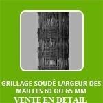 """GRILLAGE SOUDÈ 1.8 ou 2.0 mm """"BENITA"""" mailles 60 ou 65 mm long"""