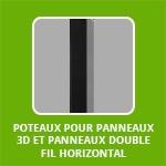 POTEAUX POUR PANNEAUX 3D ET PANNEAUX DOUBLE FIL HORIZONTAL