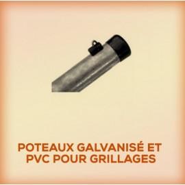 Poteaux Galvanisé et PVC pour Grillages